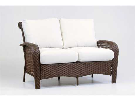 South Sea Rattan Martinique Wicker Loveseat PatioLiving