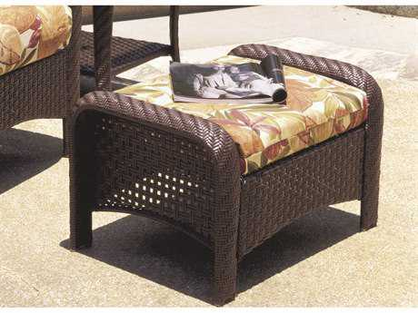 South Sea Rattan Martinique Wicker Cushion Ottoman PatioLiving