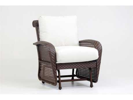 South Sea Rattan Martinique Wicker Glider Lounge Chair