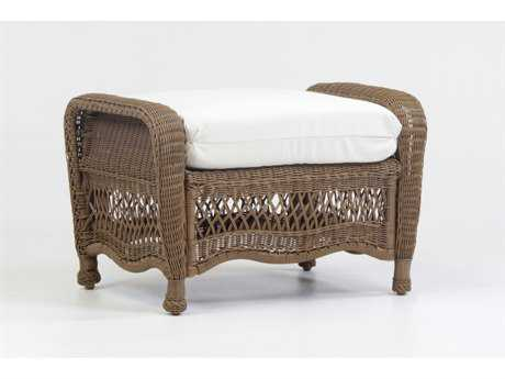 South Sea Rattan Riviera Wicker Ottoman