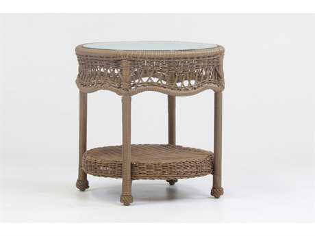 South Sea Rattan Riviera Wicker 27''L x 22''W End Table PatioLiving