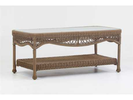 South Sea Rattan Riviera Wicker 44''L x 22''W Rectangular Coffee Table