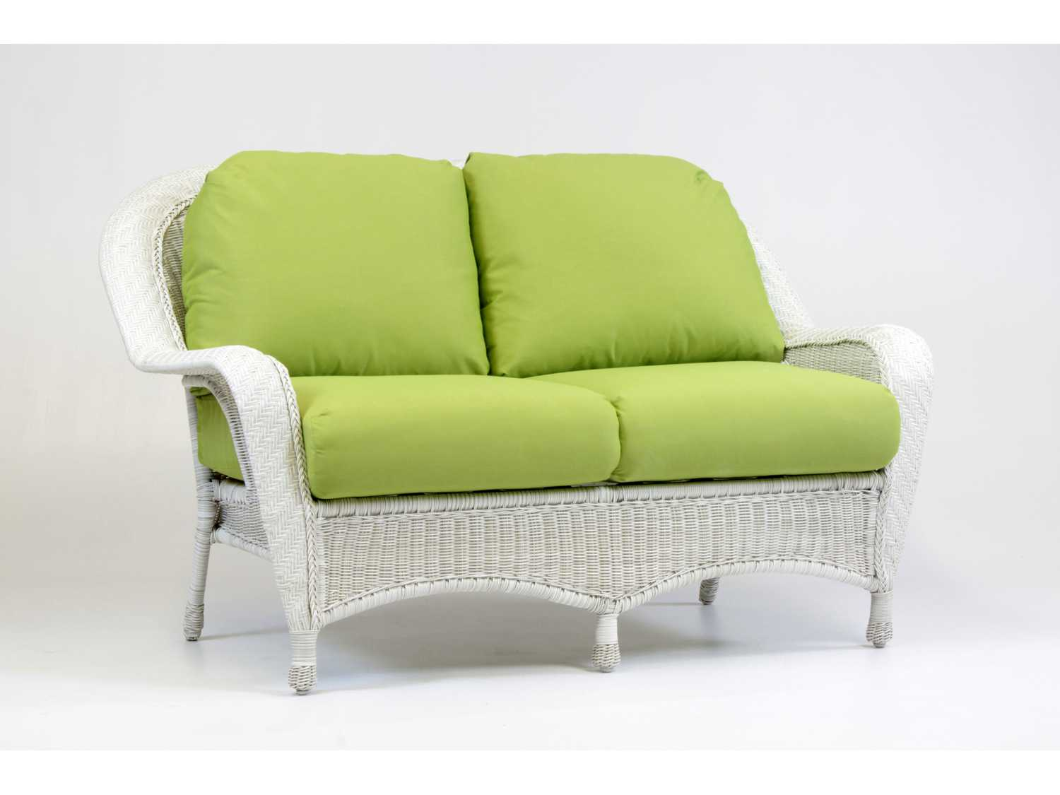 South Sea Rattan Key West Wicker Cushion Arm Loveseat 75402