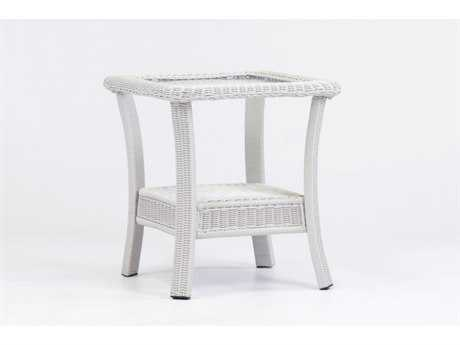 South Sea Rattan Monaco Wicker 20'' Wide Square End Table