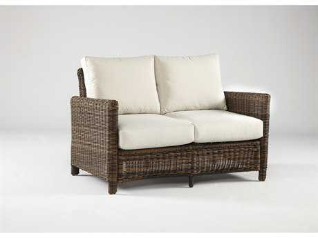 South Sea Rattan Del Ray Wicker Cushion Arm Loveseat PatioLiving