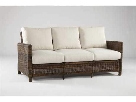 South Sea Rattan Del Ray Wicker Cushion Sofa