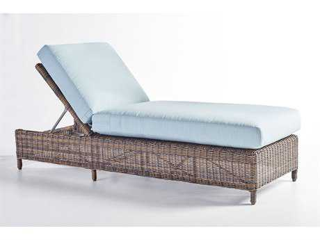South Sea Rattan Del Ray Wicker Cushion Side Chaise Lounge PatioLiving