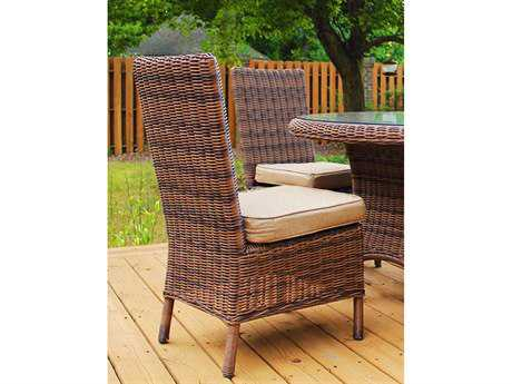 South Sea Rattan Del Ray Wicker Cushion Side Dining Chair
