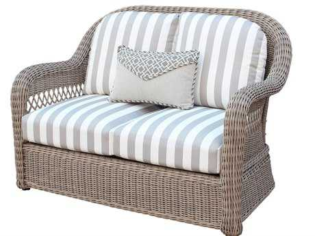 South Sea Rattan Arcadia Wicker Driftwood Loveseat