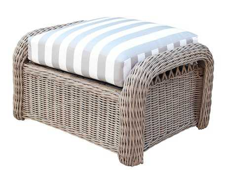 South Sea Rattan Arcadia Wicker Ottoman PatioLiving