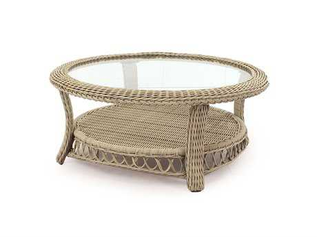 South Sea Rattan Arcadia Wicker 38'' Wide Round Coffee Table