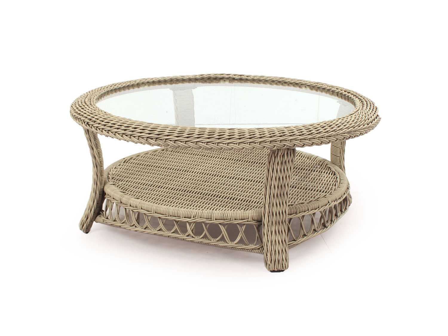 South Sea Rattan Arcadia Wicker 38 Wide Round Coffee