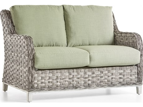 South Sea Rattan Grand Isle Wicker Cushion Loveseat