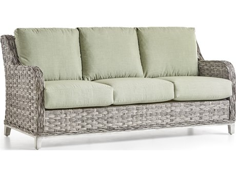 South Sea Rattan Grand Isle Wicker Cushion Sofa