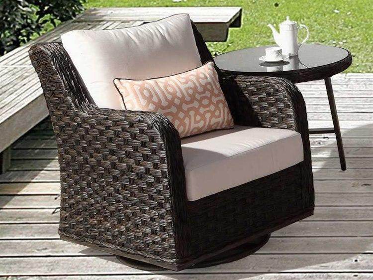 South Sea Rattan Patio Done Quick Grand Isle Wicker Swivel Chair | 77405 PDQ