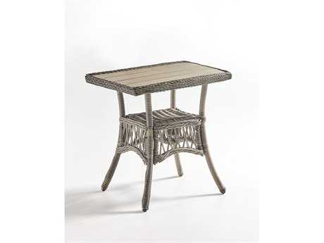 South Sea Rattan Westbay Wicker 24.5''L x 20.5''W Rectangular End Table PatioLiving