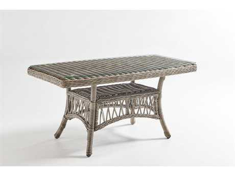 South Sea Rattan Westbay Wicker 42''L x 24''W Rectangular Coffee Table PatioLiving