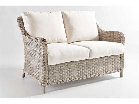 South Sea Rattan Mayfair Wicker Loveseat PatioLiving