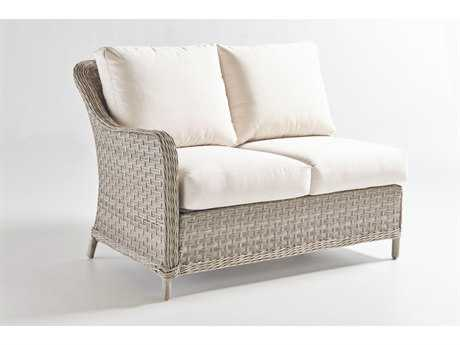 South Sea Rattan Mayfair Wicker Left Arm Loveseat