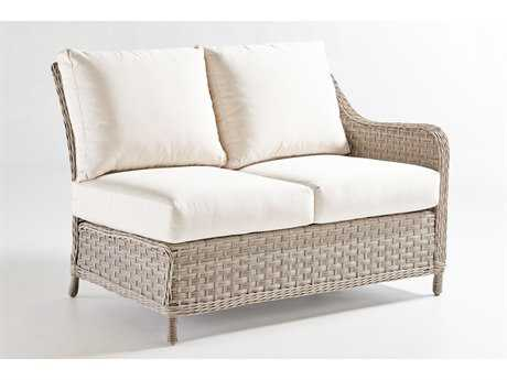 South Sea Rattan Mayfair Wicker Right Arm Loveseat