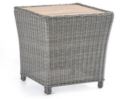 South Sea Rattan Fiji Umber 24'' Wide Wicker Square End Table