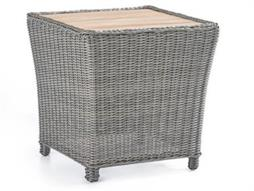 Fiji Umber 24'' Wide Wicker Square End Table