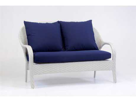 South Sea Rattan Bahia Wicker Cushion Arm Loveseat