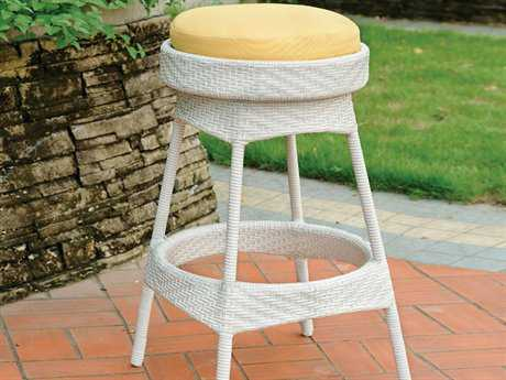 South Sea Rattan Bahia Wicker Cushion Backless Counter Stool