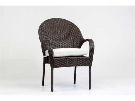 South Sea Rattan Bahia Wicker Cushion Arm Dining Chair