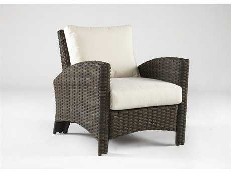 South Sea Rattan Wicker Panama Wicker Lounge Chair