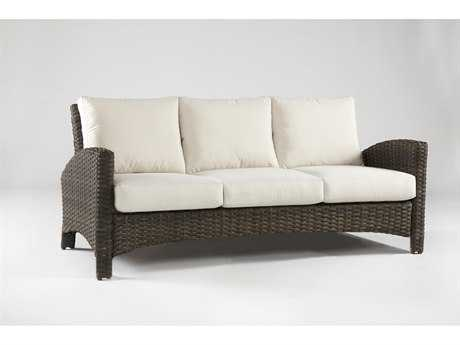 South Sea Rattan Patio Done Quick Panama Wicker Sofa