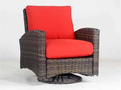 South Sea Rattan Panama Wicker Swivel Glider