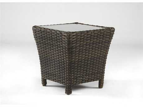 South Sea Rattan Panama Wicker 27'' Wide Square End Table