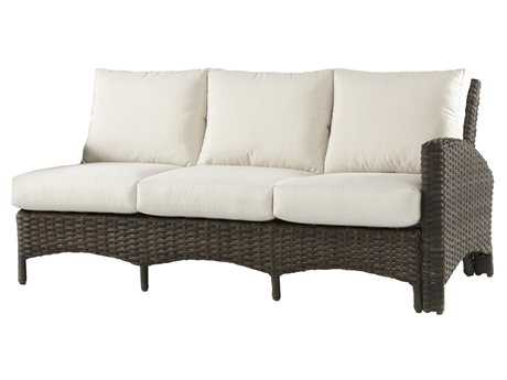 South Sea Rattan Panama Wicker Right Arm Sofa