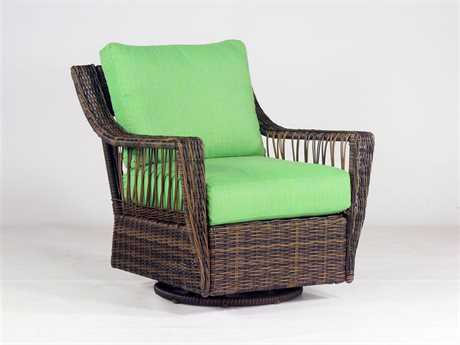 South Sea Rattan Patio Done Quick Saint John Wicker Swivel Glider