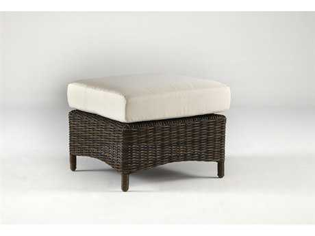 South Sea Rattan Saint John Wicker Ottoman