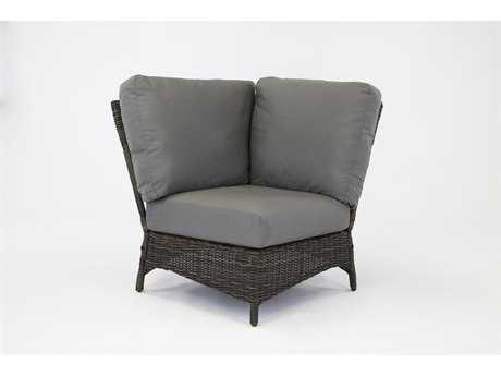 South Sea Rattan Saint John Wicker Corner Lounge Chair