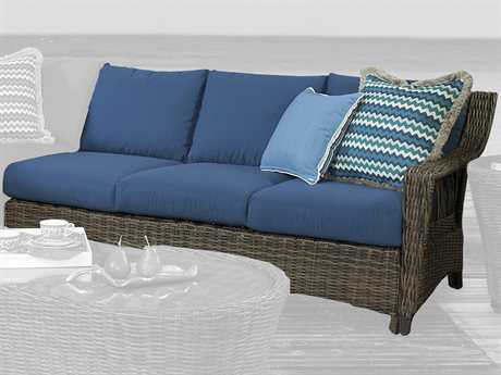 South Sea Rattan Saint John Wicker Right Arm Facing Sofa