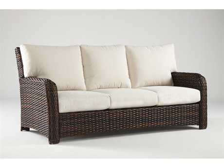 South Sea Rattan St Tropez Wicker Cushion Sofa
