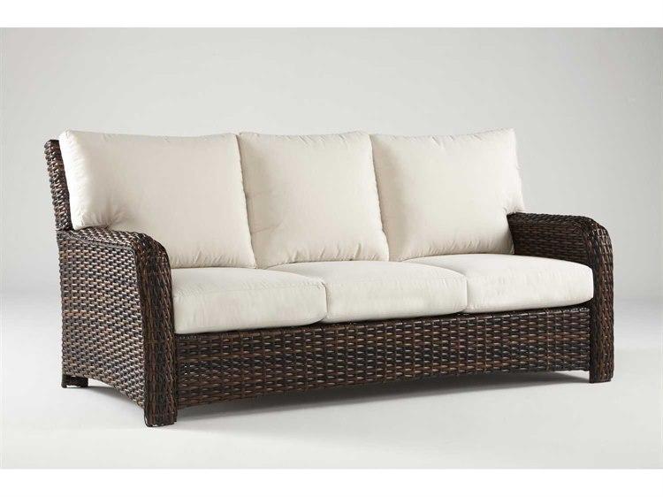 South Sea Rattan St Tropez Wicker Cushion Sofa