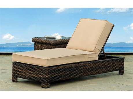 South Sea Rattan Saint Tropez Wicker Cushion Side Chaise Lounge
