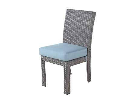 South Sea Rattan St Tropez Wicker Cushion Side Dining Chair PatioLiving