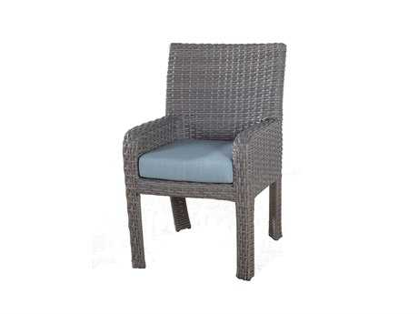 South Sea Rattan Saint Tropez Wicker Cushion Arm Dining Chair PatioLiving