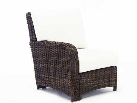 South Sea Rattan St Tropez Wicker Cushion Left Arm Lounge Chair