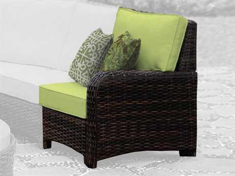 South Sea Rattan St Tropez Wicker Cushion Right Arm Lounge Chair