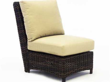 South Sea Rattan St Tropez Wicker Cushion Modular Lounge Chair