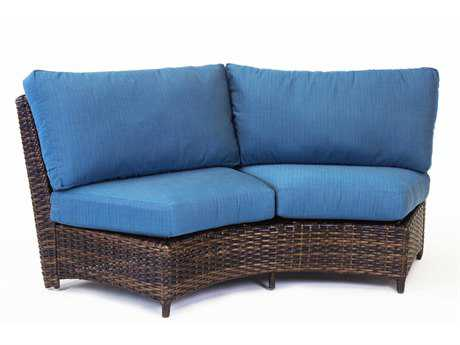 South Sea Rattan Saint Tropez Curved Loveseat PatioLiving