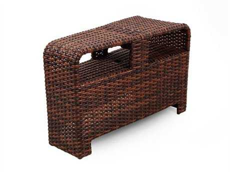South Sea Rattan Saint Tropez Wicker 32''L x 15''W Rectangular Wedge Pie End Table PatioLiving
