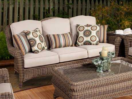South Sea Rattan Provence Wicker Cushion Sofa