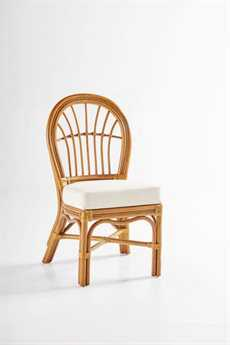 South Sea Rattan Palm Harbor Wicker Cushion Side Dining Chair